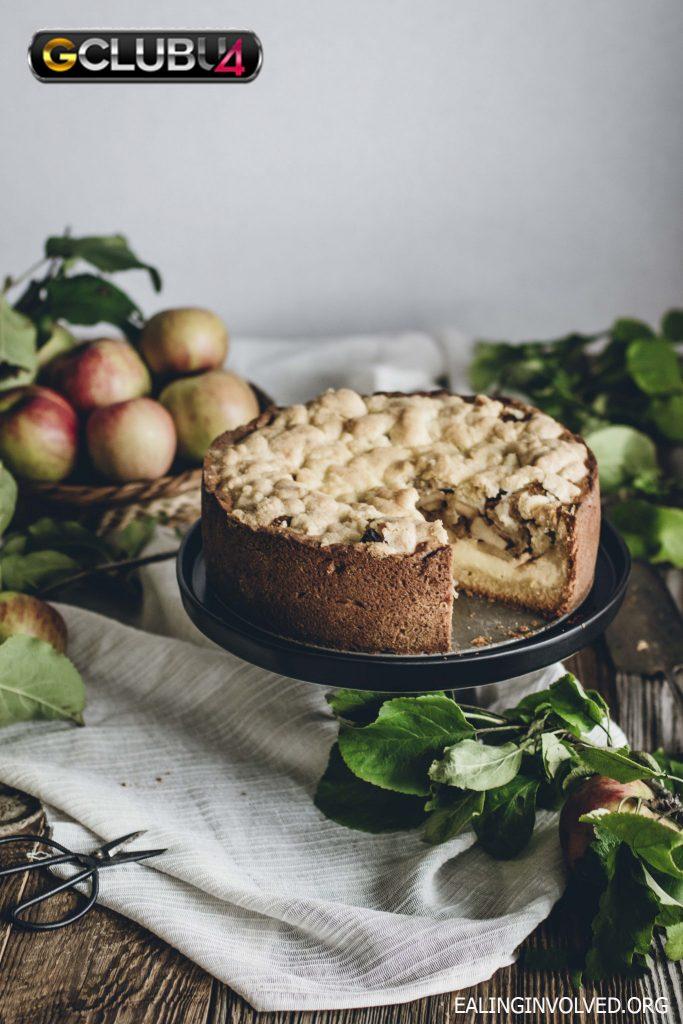 เค้กแอปเปิ้ลครัมเบิลเยอรมัน